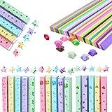 Sterne Papierstreifen,Origami-Papier,Meiso 3110 Blätter doppelseitiges Origami...
