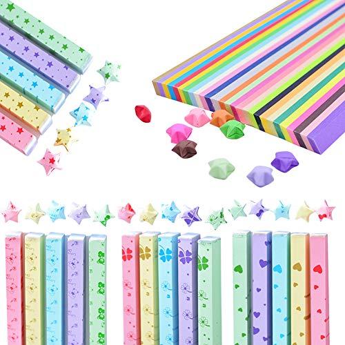 Sterne Papierstreifen,Origami-Papier,Meiso 3110 Blätter doppelseitiges Origami Sterne Papier,DIY Handwerk Papier Klappstreifen Origami-Papier für die Dekoration Kunsthandwerk,Festival Geschenk