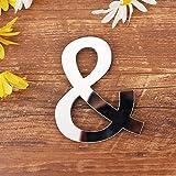 3D DIY Lettres Alphabet Décoratives Argent, Créatif Acrylique Surface du miroir Alphabet 26 lettres autocollant mural Fête de la décoration de la maison