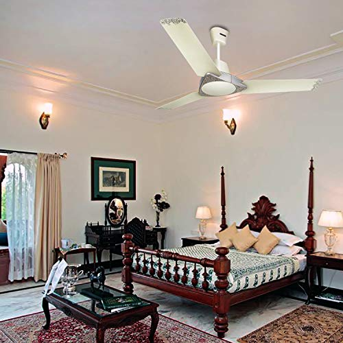 Luminous Jaipur Bandhej 1200mm Ceiling Fan (Malabar Silver)