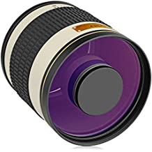 Opteka 500mm/1000mm f/6,3Tele lente espejo para Canon EOS 80d, 77d, 70d, 60d, 60Da, 50d, 7d, 6d, 5d, 5DS, 1Ds, t7i, T7S, T7, T6, T6S, T6i, T5i, T5, T4i, T3i, T3, SL2y SL1Cámaras réflex digitales