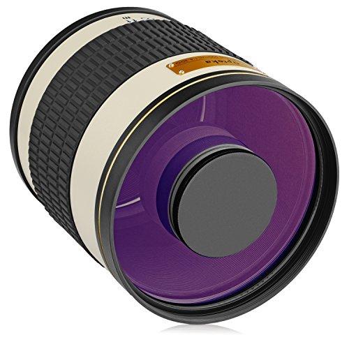 Spiegellinsenteleobjektiv der Marke Opteka, 500mm/1000mm, F/6.3, für Digitale SLR-Kameras 1000 Digitale Slr-kamera