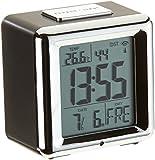 Basic Clock 602503Radio despertador con temperatura y función de repetición incl. gratis Carmesin Noche Lámpara de mesa