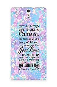 AMEZ life is like a camera Back Cover For Sony Xperia C5