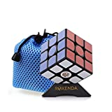 Roxenda Gan 356 Air Master 3x3 Lisser Magic Cube Ganspuzzle Speed Cube Puzzles noir avec Cube Stand and Bag (Gan 356S V2 (Lite))