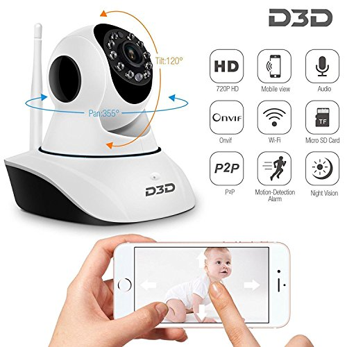 Samsung Galaxy Young 2 Compatible Wireless HD IP Wifi CCTV [Watch ONLINE DEMO right now] indoor Security Camera Live vedio in mobile or Laptop (support upto 128 GB SD card) (white Color) Model:D8810 By KRAZZY