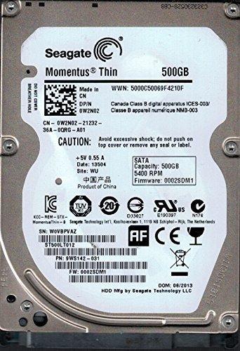 Seagate ST500LT012 F/W: 0002SDM1 P/N: 9WS142-031 500 GB WU
