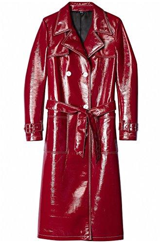 FIND Gabardina de Charol para Mujer , Rojo (Rot), 36 (Talla del Fabricante: X-Small)
