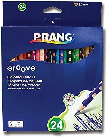 Danlmur Groove 3,3mm Presharpened Core Crayons de couleur