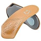 SOUMIT Orthopädisch Einlegesohlen | Echt Leder Massage Schuheinlagen Sohlen, Laufkomfort für Füße, Bein und Rücken Unisex (Damen & Herren, EU43-44)