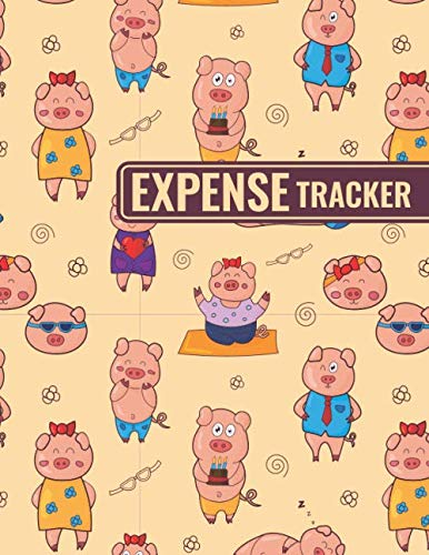 Expense Tracker: Personal Cash Management Daily Record Organizer Notebook with Funny Pigs Themed Cover Design