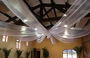 organza blanc 100 MÉTRES , déco Mariage vélum,largeur 150cm tissu souple ,fluide,décoratif