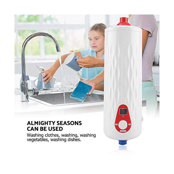 Mini Calentador de Agua Instantáneo Eléctrico sin Tanque 6500W 220V Temperatura Ajustable para Cocina Baño