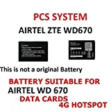 Best Hotspot Devices - PCS SYSTEM - Battery Airtel WD670 Airtel 4g Review