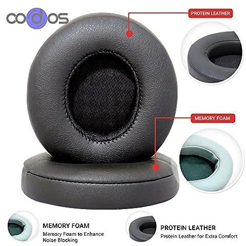 Lot de 2Coussin d'oreille capuchon pour Beats by Dr. Dre Solo 2.0Casque sans fil Bluetooth, Solo 2nd, couvertures de coussinets de rechange