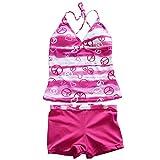 TFJH Girls Youth Gorgeous Tie-Dye 2PCS Tankini Swimwear Swimsuit 3-16Y