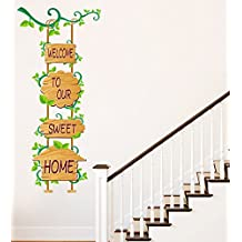 Luke and Lilly Welcome To Our Sweet Home Wall Sticker(Pvc Vinyl,120Cm X60Cm, Design 1)