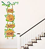 #9: Luke and Lilly Welcome to our sweet Home Wall sticker(PVC Vinyl,120cm x60cm)