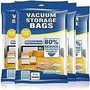 AMERTEER Premium Vacuum Storage Bags. 80% More Storage! Hand-Pump for Travel! Double-Zip Seal and Triple Seal