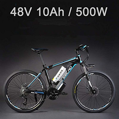 "51lAXO14fuL. SS500  - 26"" 48V Lithium Battery Aluminum Alloy Electric Assisted Bicycle, 27 Speed Electric Bike, MTB/Mountain Bike,adopt Oil Disc Brakes,Pedelec."