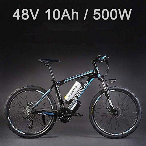 SMLRO 26'vélo électrique d'alliage d'aluminium de Batterie au Lithium 48V 500W, vélo électrique...