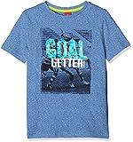 s.Oliver Jungen T-Shirt 63.803.32.7021, Blau (Blue Melange 55W1), 92 (Herstellergröße: 92/98)