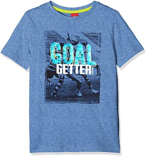 s.Oliver Jungen 63.803.32.7021 T-Shirt, Blau (Blue Melange 55W1), 92 (Herstellergröße: 92/98)