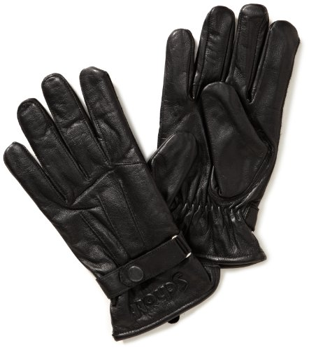 Schott NYC Herren Handschuhe GL474, Gr. Large, Schwarz (black 90) (Nyc Leder)