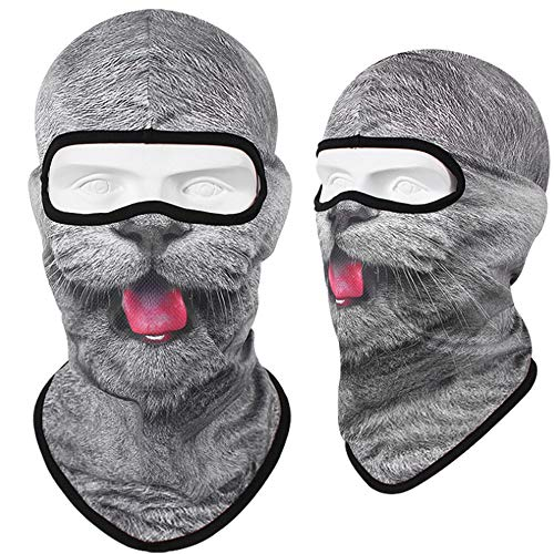 Warme Full Face Bike Maske Cover, Winter Windproof Neck Warmer Animal Ski Maske, Fit Helm Hut für Adults-One Size (Tier-motorrad-helm-cover)