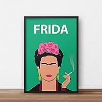 Frida Kahlo Poster Print // feministische Kunstwerk - minimalistisch - inspirierend - bunt - Geschenk für sie - Retro Art - Minimalist - Inspirational - Colourful - Gift for Her - Minimalist