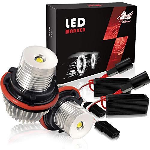 Win Power 5W LED Angel Eyes Autoscheinwerfer Xenon White 6000 K Canbus Error Free 2 Stücke
