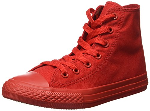 CONVERSE - Scarpa Sneaker rossa stringata, in tela, scarpa sportivo casual, Bambina, Donna Rosso