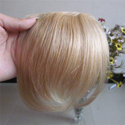 20,3 cm couleur : Blond Highlight (# 27/613) cheveux humains véritables cheveux Fashion avant Neat Bang franges One cheveux