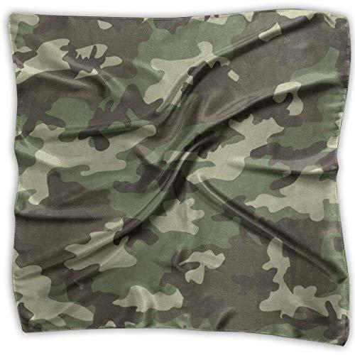 Xukmefat Quadratischer Schal Military Camouflage Camo Neck Kopf Unisex Taschentuch Krawatte für Mann