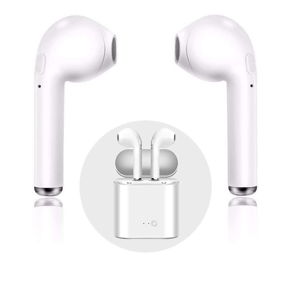 Audífonos inalámbricos OUYA, audífonos con micrófono en la Oreja y micrófono. Audífonos inalámbricos con Estuche de Carga Manos Libres para iPhone X 8 8plus 7 7plus 6S Samsung iOS Android Smartphones