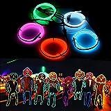 AUDEW 1M x 5 diferente neón EL Wire alambre guirnalda colores con brillante electroluminiscente pila caja para noche, partido, boda, coche / empresa (Blanco + Rosa + Rojo + Verde + Azul)