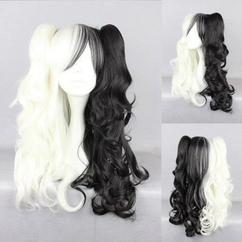 Ladieshair perruque style Lolita Cosplay perruque noir ondulés Blond 70 cm Wig