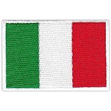 Parche Parches plancha de planchar Iron on), diseño bandera de Italia