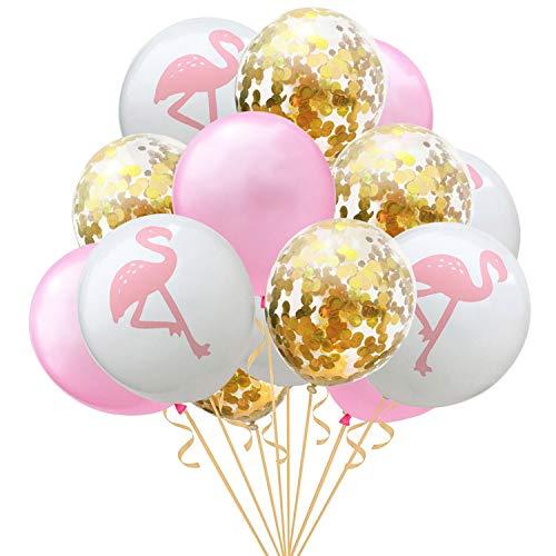 15 stücke Bunte Latex Ballon Konfetti Luftballons für Geburtstag Hochzeit Hawaii Luau Thema Partydekorationen Liefert Stil A
