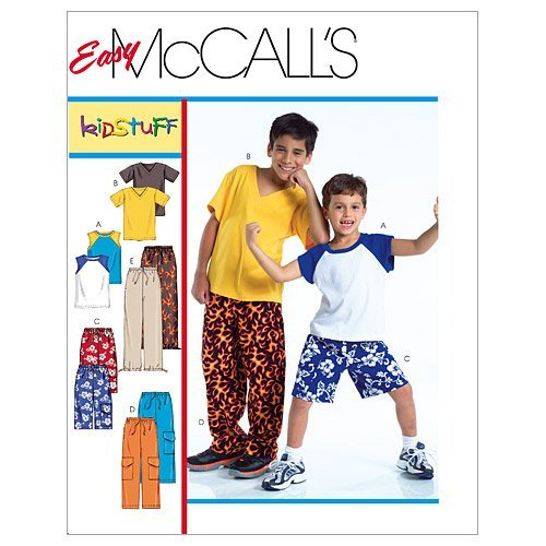 mccalls-patterns-m4364-childrens-boys-t-shirts-shorts-in-2-lengths-and-pants-size-z-med-lrg-xlg-by-m