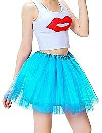 72934dd63a34 Mangotree Damen Tütü Minirock Organza Pettiskirt 3 Layers Petticoat  Tanzkleid Unterrock Perfekt für Fasching