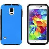 JAMMYLIZARD | Outdoor Hülle für [ Samsung Galaxy S5 & S5 Neo ] mit integriertem Displayschutz, BLAU