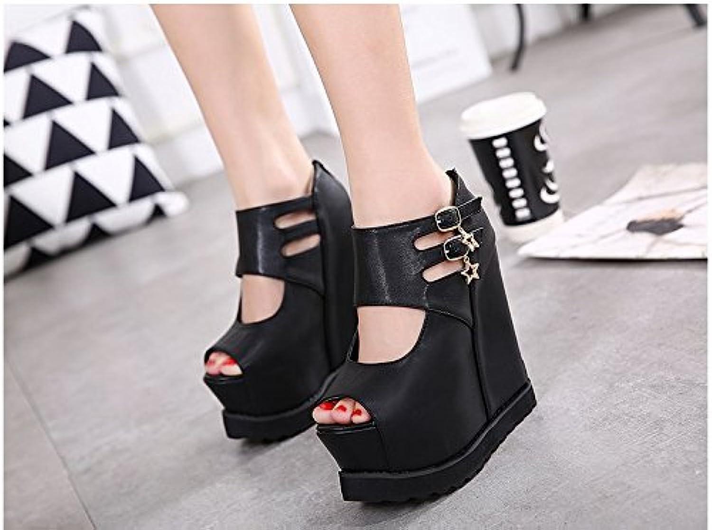 GTVERNH-Women'Shoes/Zapatillas Mujer/Zapatos Super Tacones De 15 Cm Pendiente Tacon Zapato De Plataforma Única...