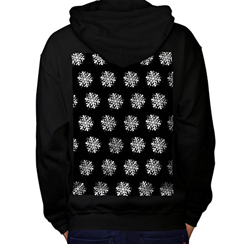 Snowflake Cute Christmas Men S Kapuzenpullover Zurück | Wellcoda