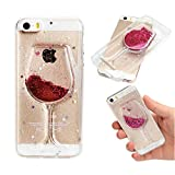 Coque iphone 5, Apple iphone 5S/Se Rose Flowing Liquid Coque RosyHeart 3D Motif Verre...