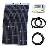 130W Flexible durable Éthylène Tétrafluoroéthylène Panneau solaire en Back-contact Cells kit de chargement pour camping-car, caravane, camping-car, RV, bateau ou Yacht...