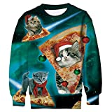 Funnycokid Bambino Xmas Natale Maglione T Shirt Ovunque Stampare Babbo Hipster Pullover Coppie Long Sleeve Tops