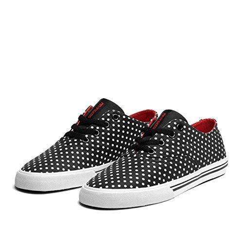 Supra Shoes WMNS Wrap Black Polka/Red–White Black Polka/ Red - White