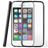 moex iPhone 4S | Hülle Slim Transparent Schwarz Impact Back-Cover Dünn Schutzhülle Silikon Handy-Hülle für iPhone 4/4S Case TPU Tasche Matt