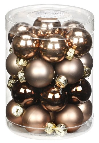 Inge-glas 15101D001 Kugel 30 mm, 28-Stück/Dose, Elegant Lounge-Mix